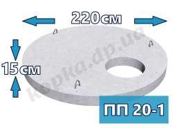 Плита перекриття пішохідна ПП20-1